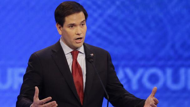 Senator Marco Rubio was criticised for being inexperienced, during the latest televised Republican Party debate (AP)
