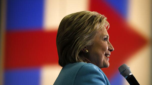 Democratic presidential candidate Hillary Clinton speaks during a campaign stop in New Hampshire (AP)