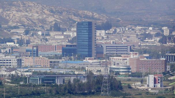 The Kaesong industrial complex at the Korea border (AP)