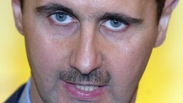 The government of President Bashar Assad, pictured, denies using chemical weapons