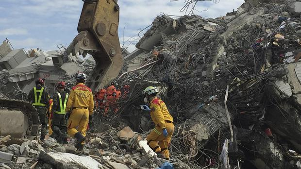 Rescue teams have removed the final bodies from the earthquake rubble (AP)