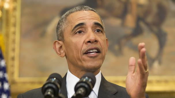 President Barack Obama speaks in the Roosevelt Room of the White House to discuss the detention centre at Guantanamo Bay, Cuba (AP)