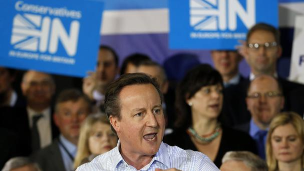 Prime Minister David Cameron launches the Conservatives IN campaign to stay in the EU