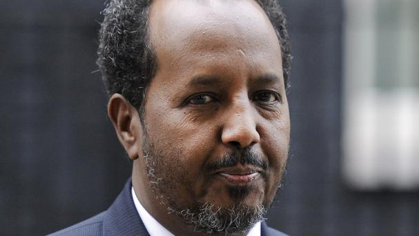Hassan Sheikh Mohamud claimed between 180 and 200 Kenyan soldiers were killed in the January 15 attack