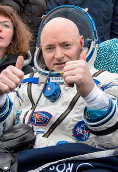 Scott Kelly after landing