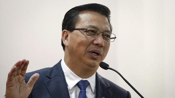 Malaysian Transport Minister Liow Tiong Lai addresses the media in Kuala Lumpur (AP)