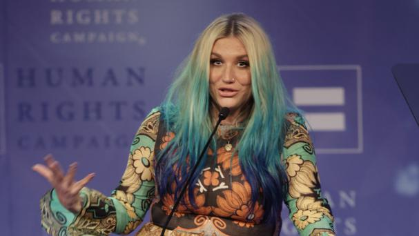 Kesha speaks at the 21st Annual HRC Nashville Equality Dinner (AP)
