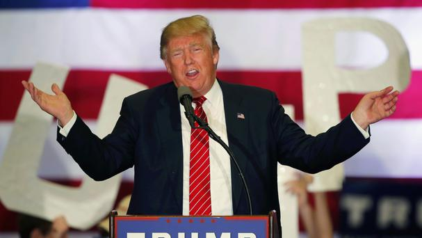 Donald Trump has pledged to build a wall on the US border with Mexico (AP)