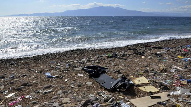 The boat went down off Turkey's western coast, on its way to the Greek island of Lesbos (AP)