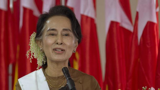 National League for Democracy party leader Aung San Suu Kyi (AP)