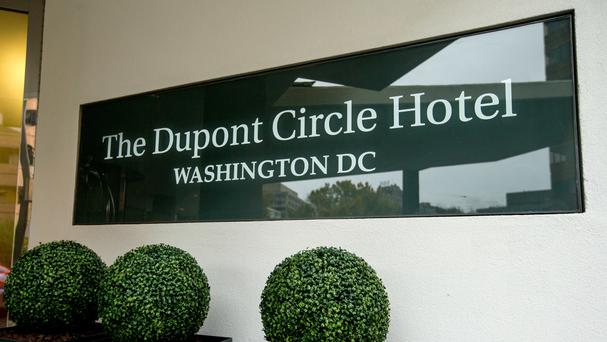 The Dupont Circle Hotel where Mikhail Lesin was found dead (AP)