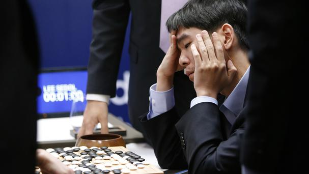 South Korean professional Go player Lee Sedol after finishing the final match against AlphaGo in Seoul (AP)