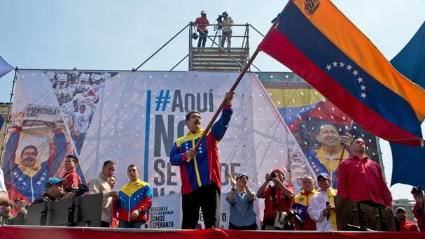 Nicolas Maduro's socialist administration blames the critical situation on a drought caused by the El Nino weather phenomenon (AP)