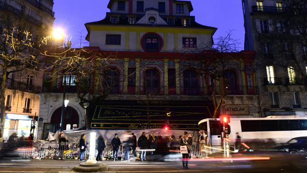 Tributes outside the Bataclan Theatre in memory of the victims of the Paris attacks