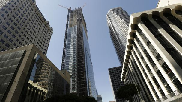 The electrician fell to his death from the Wilshire Grand Centre (AP)