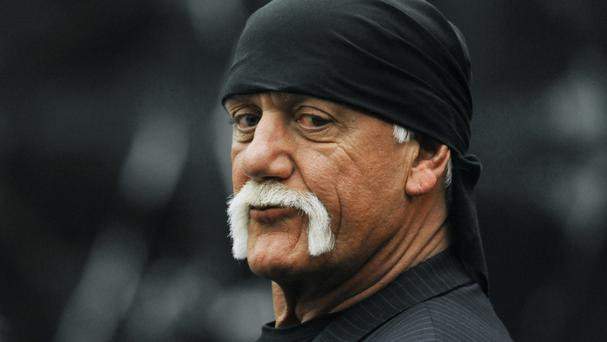 Hulk Hogan in the courtroom in St Petersburg, Florida (AP)