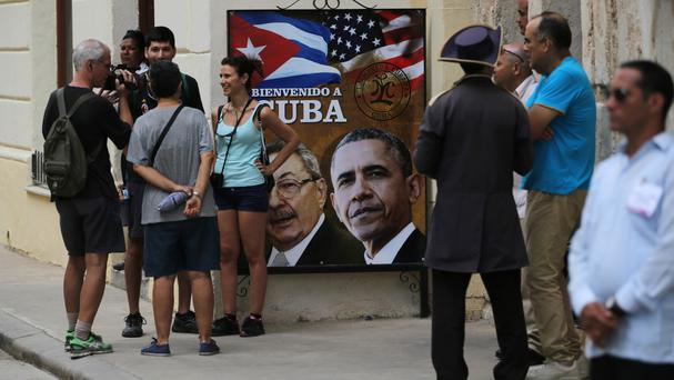 Barack Obama is visiting Cuba (AP)