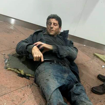 Sebastien Bellin suffered leg injuries. Photo: Reuters