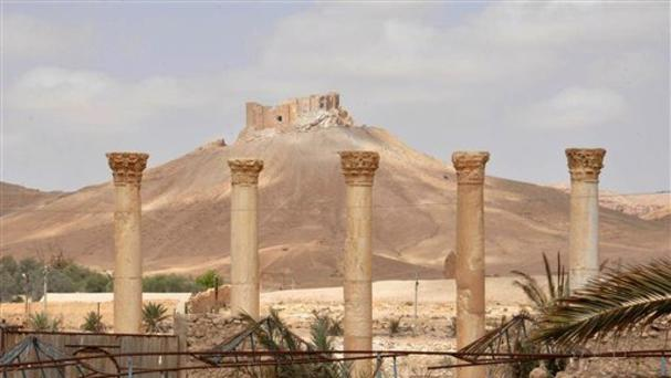Syrian troops have taken back Palmyra from Islamic State fighters in central Syria (SANA via AP)