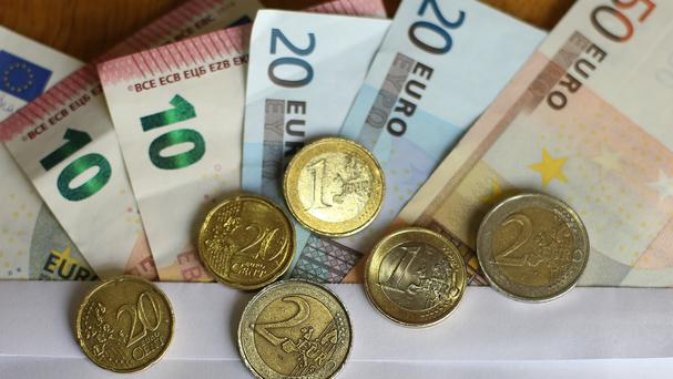 Eurostat said the headline inflation rate was minus 0.1% against the previous month's reading of minus 0.2%
