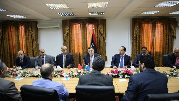 The UN-backed unity government meets in Tripoli (AP)