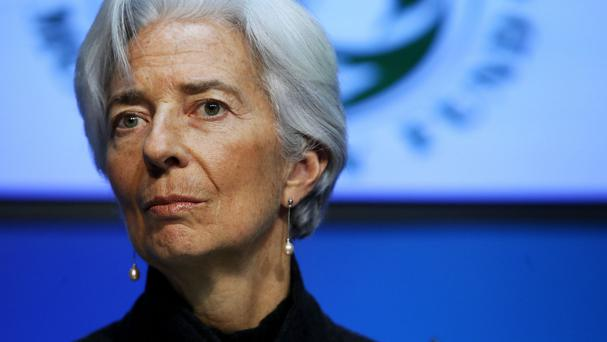 Managing Director of the International Monetary Fund Christine Lagarde calls for governments to act on economic growth