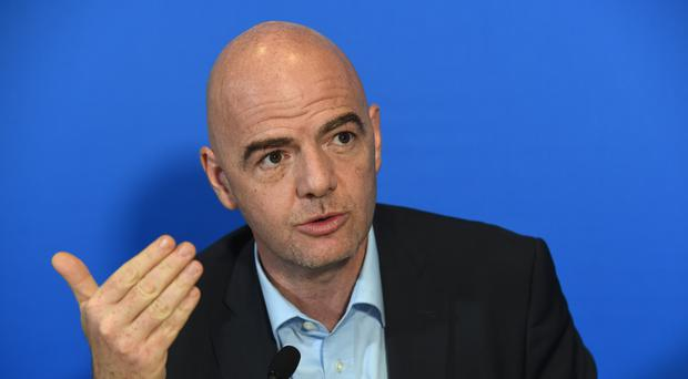 Gianni Infantino. Picture: PA