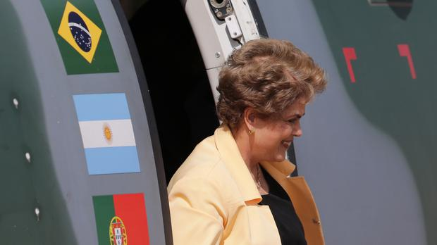 Dilma Rousseff has ruled out any cabinet reshuffle ahead of a congressional vote on impeachment proceedings against her (AP)