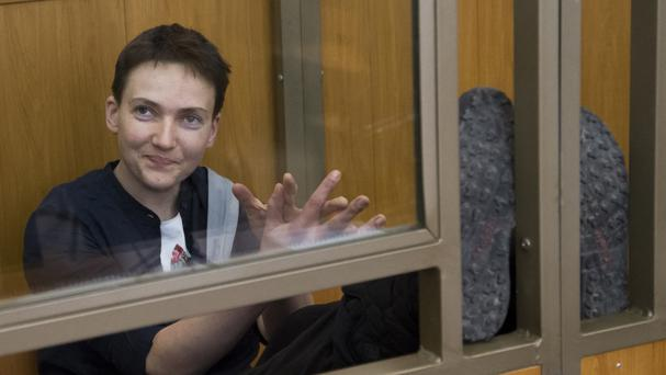 Nadezhda Savchenko's lawyer said she began a dry hunger strike on Wednesday (AP)