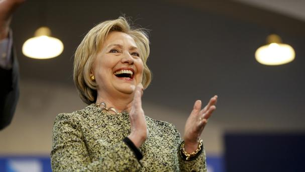 Democratic presidential candidate Hillary Clinton appears at Carnegie Mellon University on a campaign stop (AP)