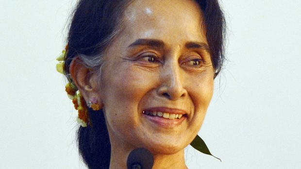 The military-backed government was succeeded by Aung San Suu Kyi's National League for Democracy late last month (AP)