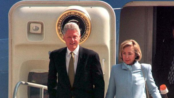 Hillary and Bill Clinton are campaigning to return to the White House, this time with Hillary as candidate