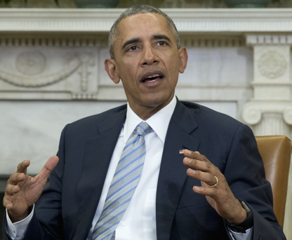 This week US President Barack Obama's administration scuppered a $160bn merger between drug companies Pfizer and Allergan Photo: AP