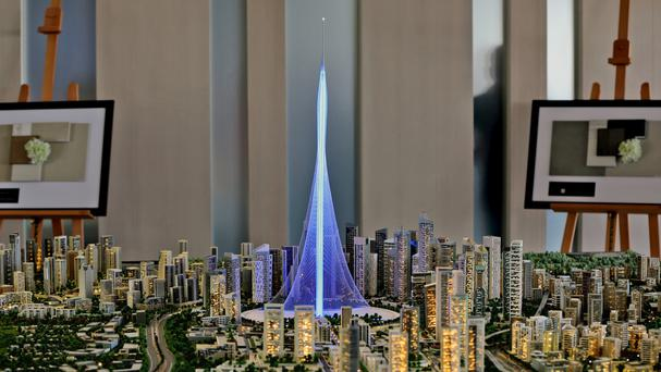 A model of the new tower planned for Dubai (AP)