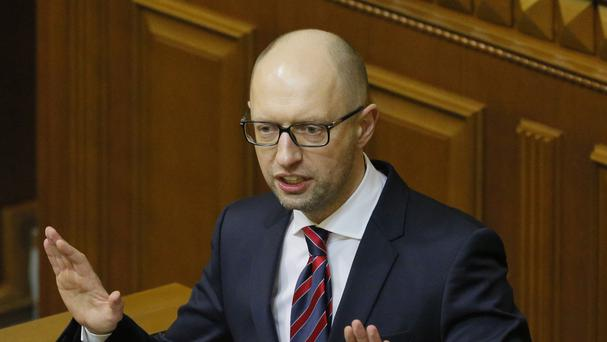 Arseniy Yatsenyuk is standing down as Ukraine's prime minister (AP)