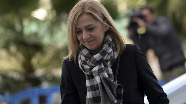 Princess Cristina's trial is taking place in the city of Palma de Mallorca (AP)