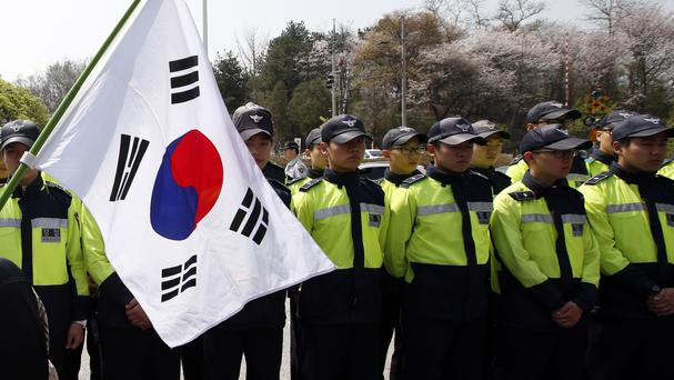 Police in South Korea are braced for protests on the second anniversary of a ferry disaster