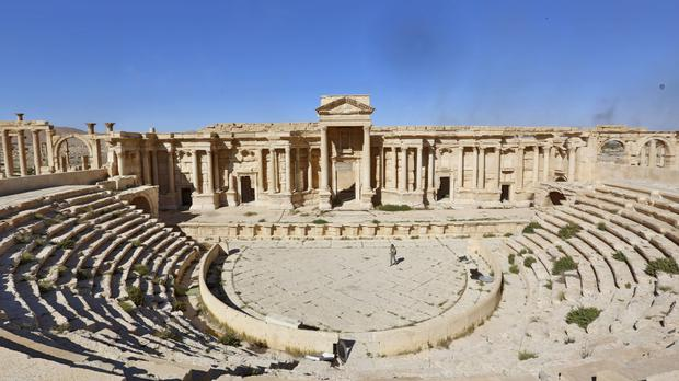 The famous Roman theatre in the ancient city of Palmyra (AP)