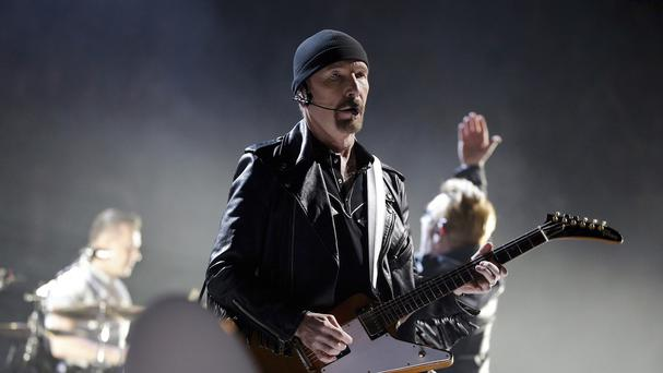 The Edge playing in Paris last month