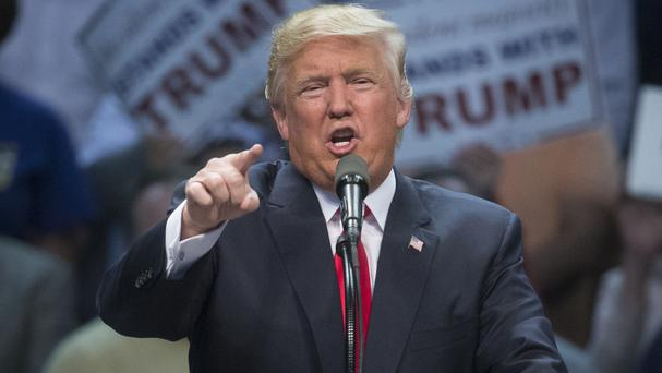Republican presidential hopeful Donald Trump makes his final primary pitch to New Yorkers in Buffalo (AP)