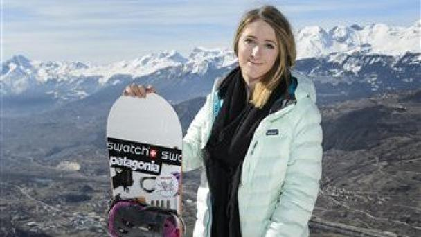 Snowboarder Estelle Balet has been killed in an avalanche (Jean-Christophe Bott/Keystone, via AP)