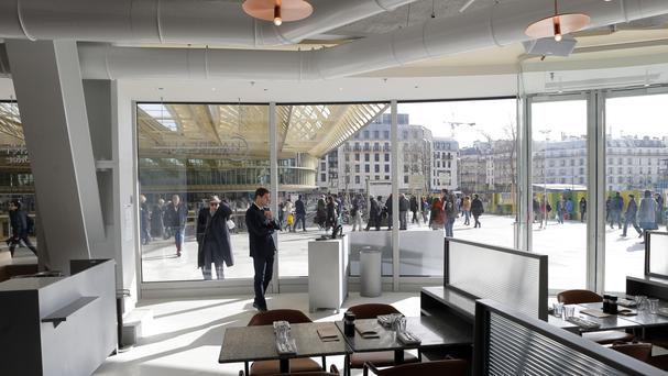 French chef Alain Ducasse's Brasserie Champeaux in the new Les Halles shopping centre in Paris (AP)