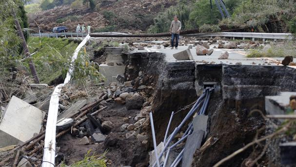 The earthquakes caused widespread damage in parts of Kumamoto city and surrounding communities on the island of Kyushu (AP)