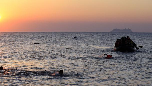 Many migrants risk their lives crossing the Mediterranean