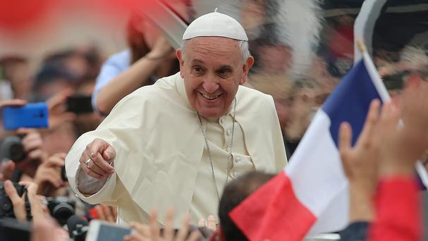 Pope Francis pictured in St Peter's Square, Rome