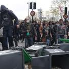 Violence flared among protesters (AP)