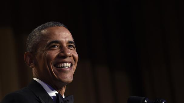 Barack Obama speaks at the annual White House Correspondents' Dinner (AP)