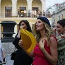 "Brazilian model Gisele Bundchen attends the presentation of Karl Lagerfeld's ""cruise"" line for fashion house Chanel in Havana, Cuba (AP)"