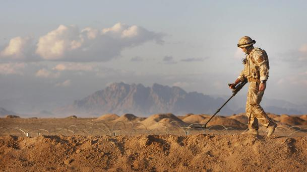 Afghanistan is covered with mines and other explosives left over from decades of war
