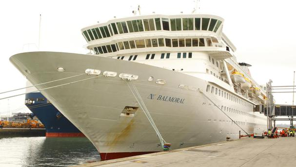 The Balmoral at Southampton docks